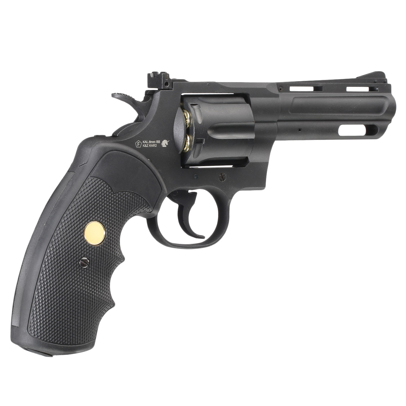 King Arms .357 Magnum Custom I 4 Zoll Revolver Vollmetall CO2 6mm BB schwarz 4
