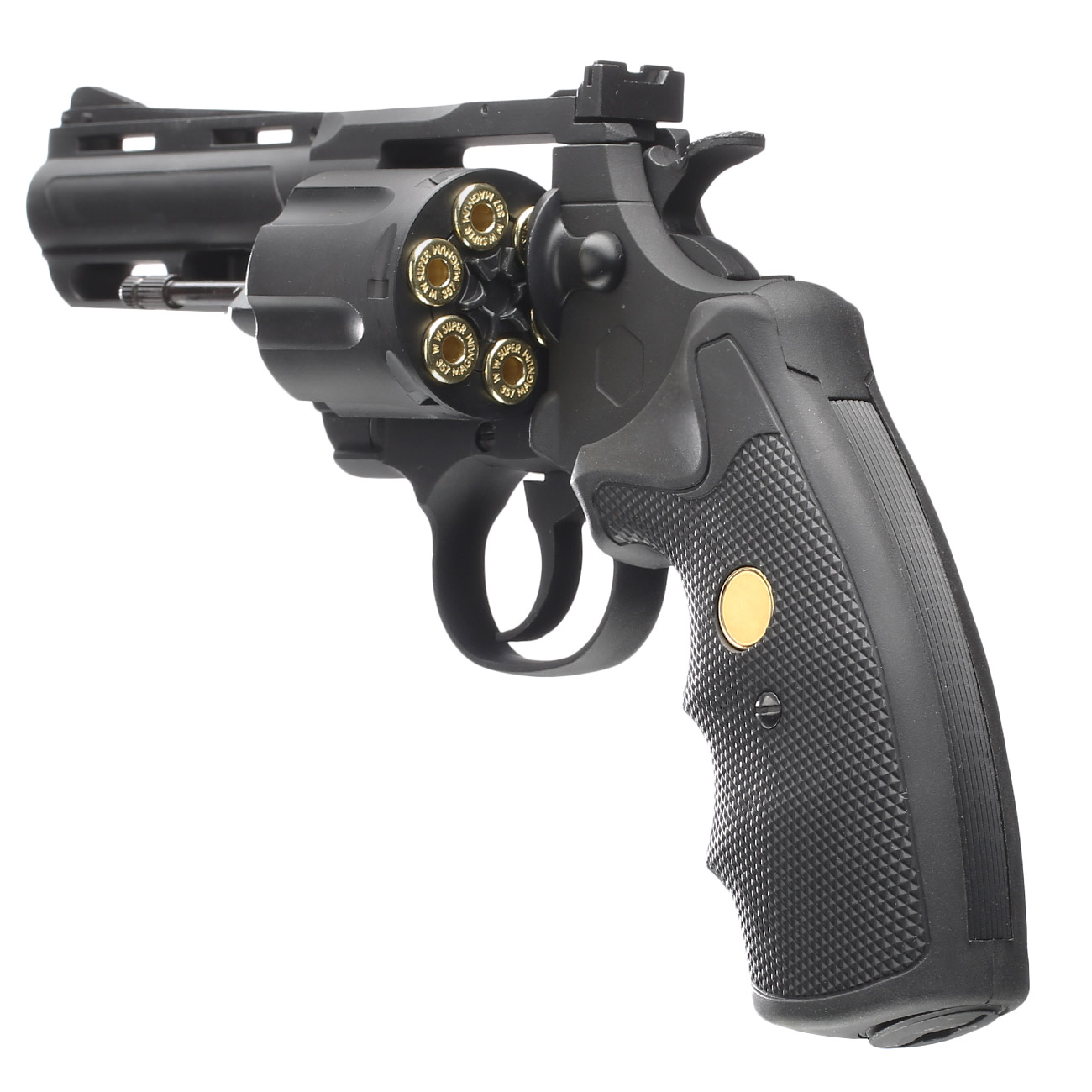 King Arms .357 Magnum Custom I 4 Zoll Revolver Vollmetall CO2 6mm BB schwarz 5
