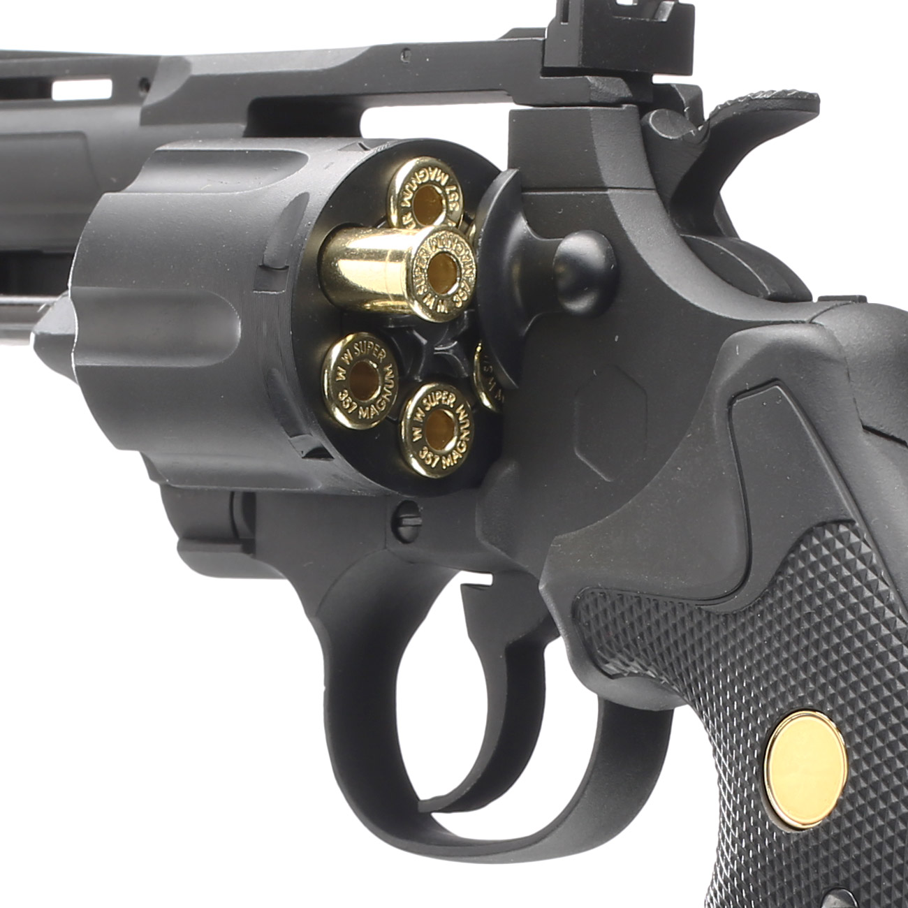 King Arms .357 Magnum Custom I 4 Zoll Revolver Vollmetall CO2 6mm BB schwarz 6