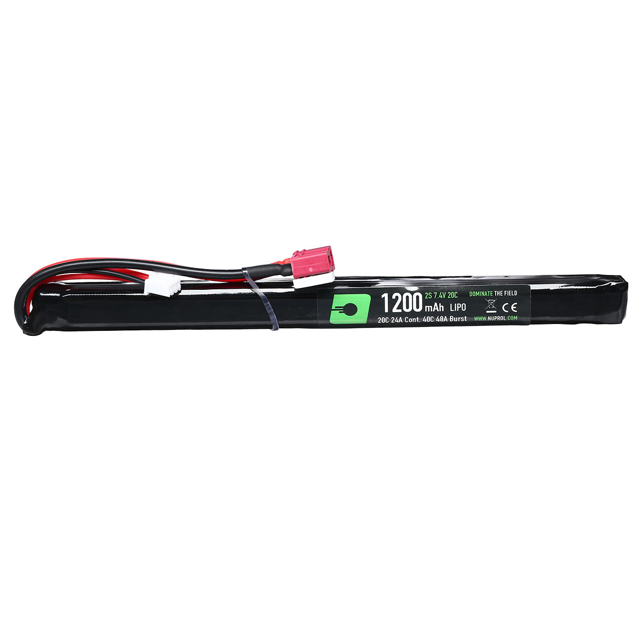 Nuprol Power Series LiPo Akku 7,4V 1200mAh 20C / 40C Slim Stick-Type m. Deans Anschluss 1