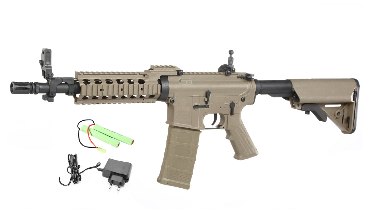 Tippmann M4 CQB RIS Basic Training Komplettset AEG 6mm BB Tan 0