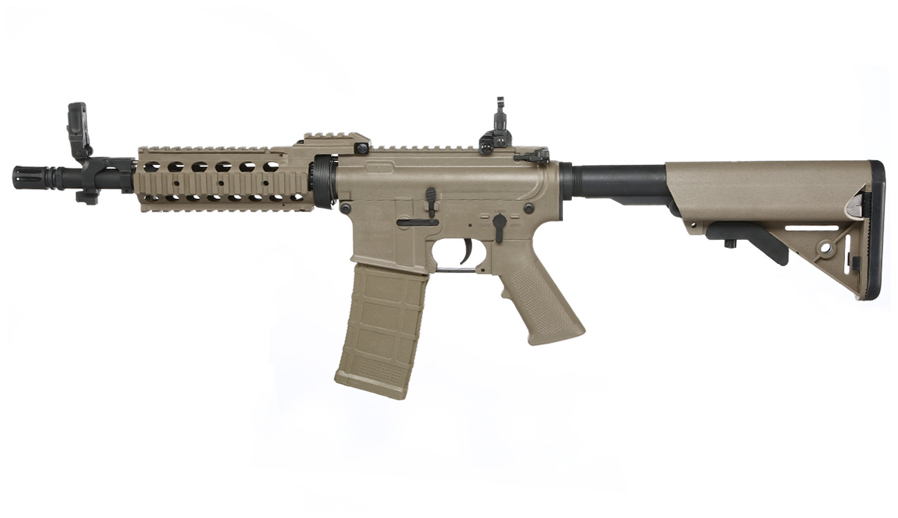 Tippmann M4 CQB RIS Basic Training Komplettset AEG 6mm BB Tan 1