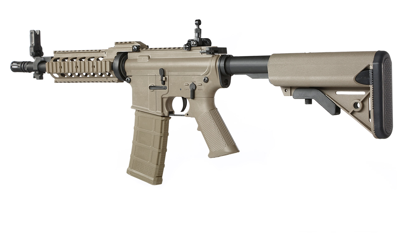 Tippmann M4 CQB RIS Basic Training Komplettset AEG 6mm BB Tan 10