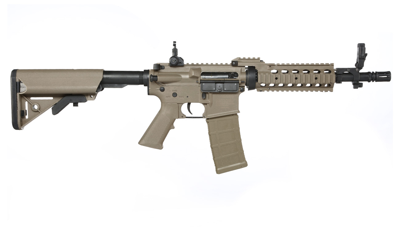 Tippmann M4 CQB RIS Basic Training Komplettset AEG 6mm BB Tan 2
