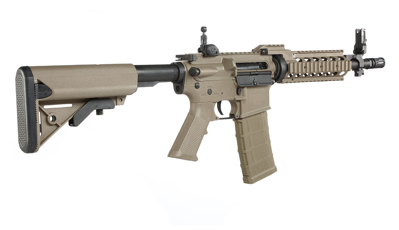 Tippmann M4 CQB RIS Basic Training Komplettset AEG 6mm BB Tan 3