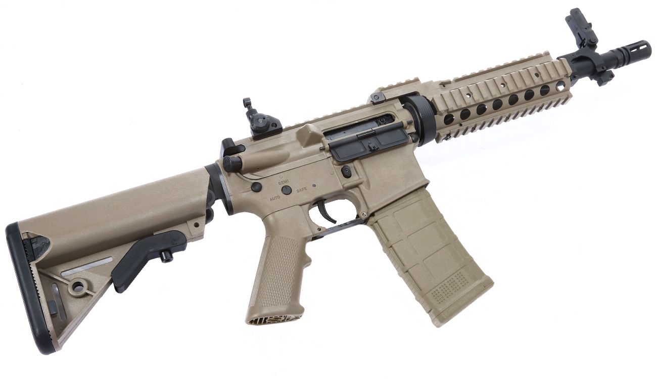 Tippmann M4 CQB RIS Basic Training Komplettset AEG 6mm BB Tan 4