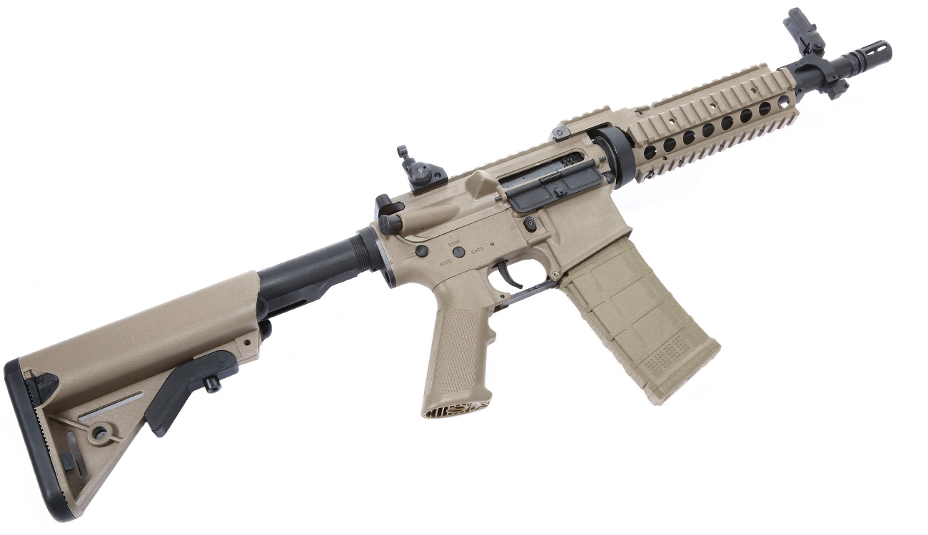 Tippmann M4 CQB RIS Basic Training Komplettset AEG 6mm BB Tan 5