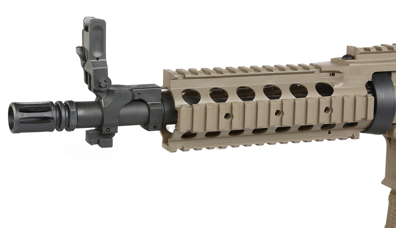 Tippmann M4 CQB RIS Basic Training Komplettset AEG 6mm BB Tan 6