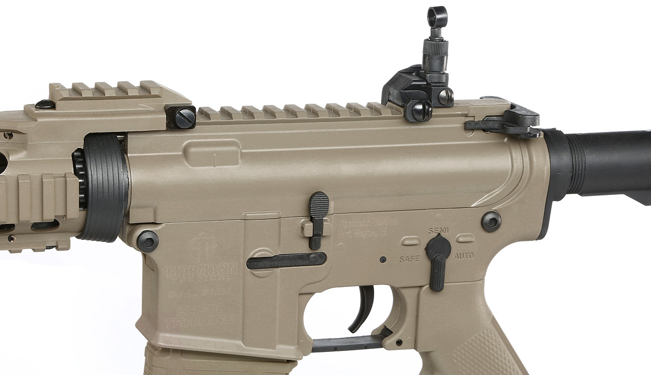 Tippmann M4 CQB RIS Basic Training Komplettset AEG 6mm BB Tan 7