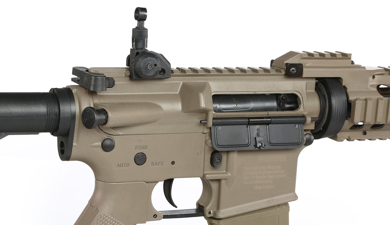 Tippmann M4 CQB RIS Basic Training Komplettset AEG 6mm BB Tan 8