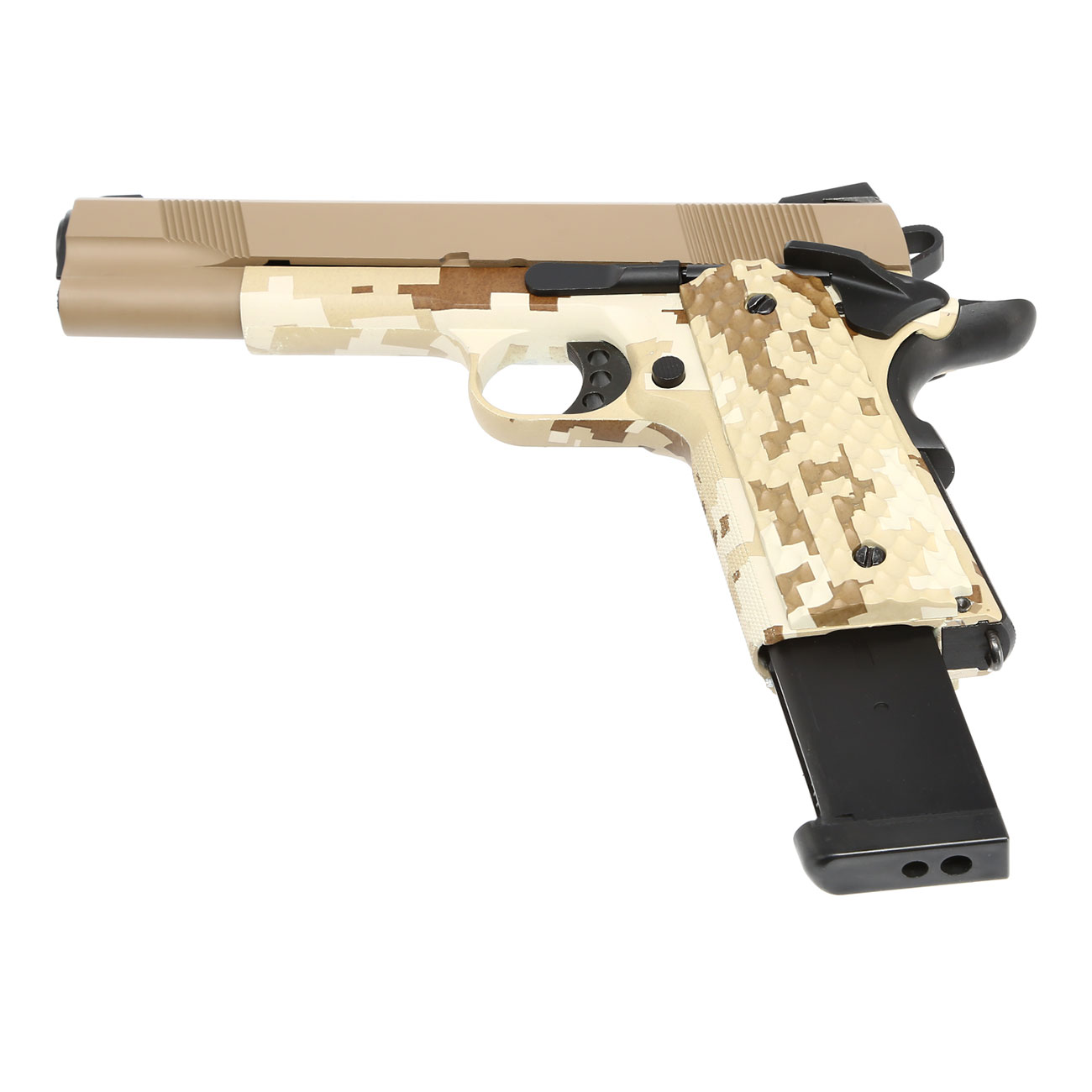 Nuprol Raven M1911 MEU Vollmetall GBB 6mm BB Tan / Digital Desert 5