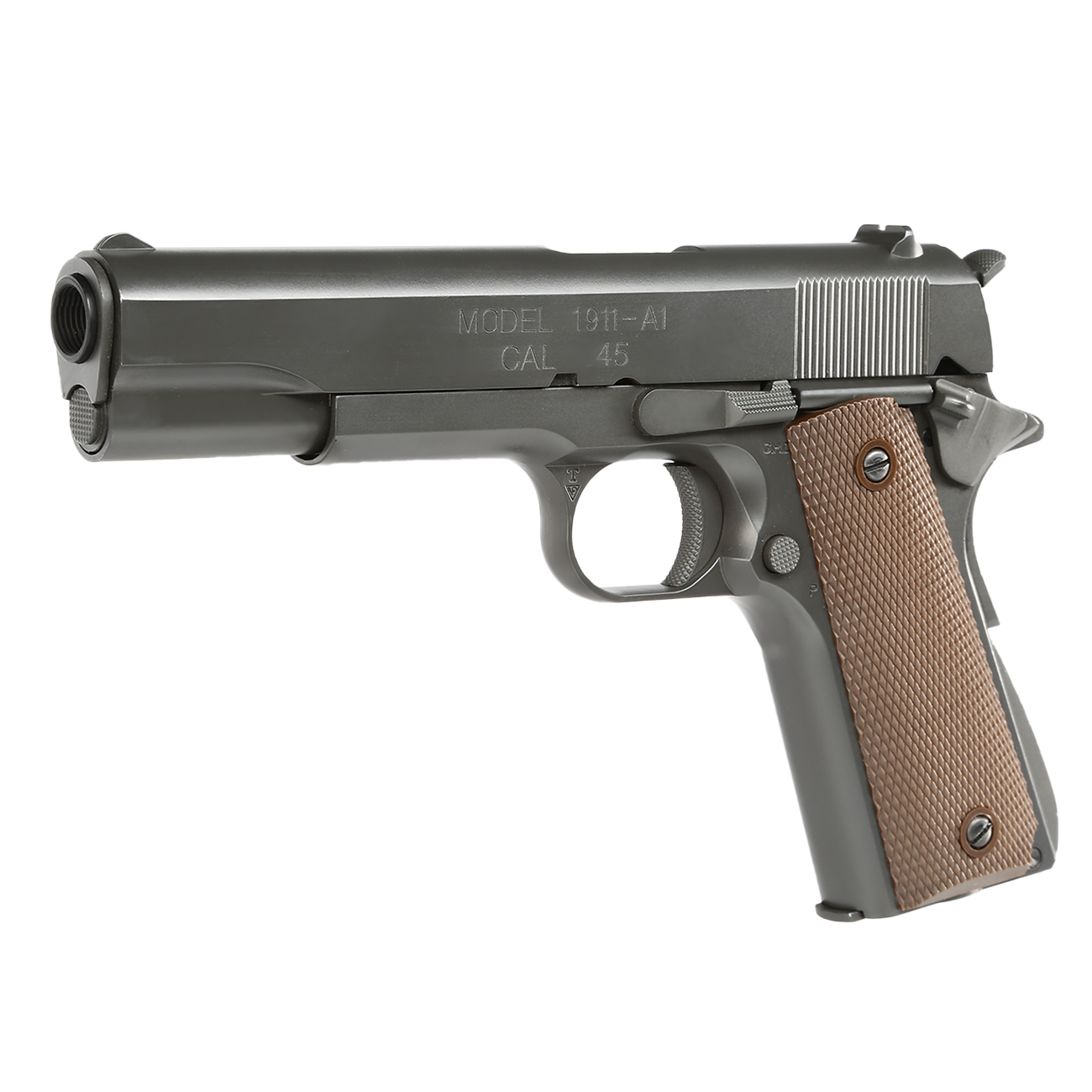 King Arms M1911-A1 Cal. 45 Vollmetall GBB 6mm BB Original-Grey 0