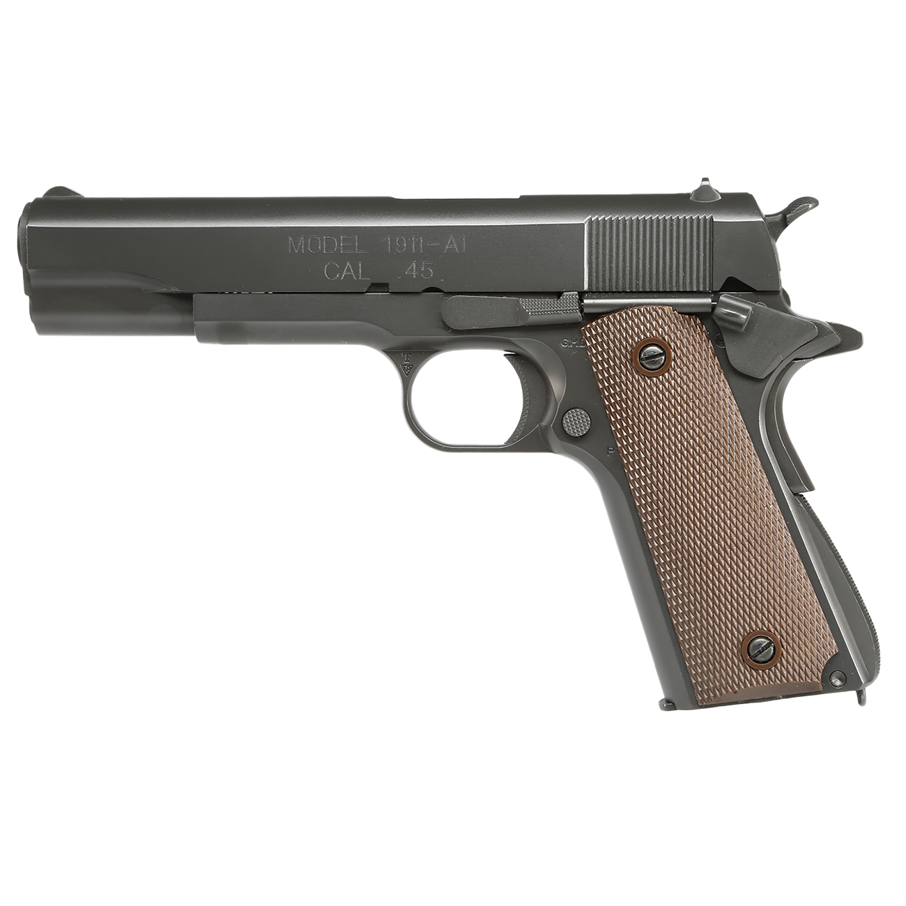 King Arms M1911-A1 Cal. 45 Vollmetall GBB 6mm BB Original-Grey 1