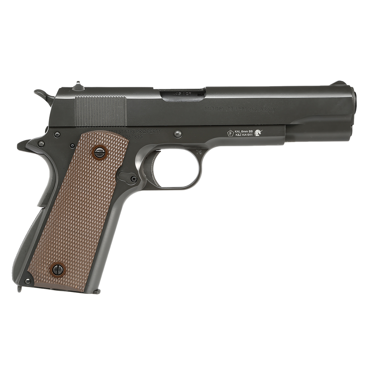 King Arms M1911-A1 Cal. 45 Vollmetall GBB 6mm BB Original-Grey 3