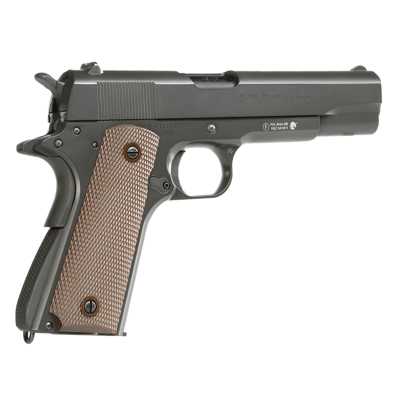 King Arms M1911-A1 Cal. 45 Vollmetall GBB 6mm BB Original-Grey 4