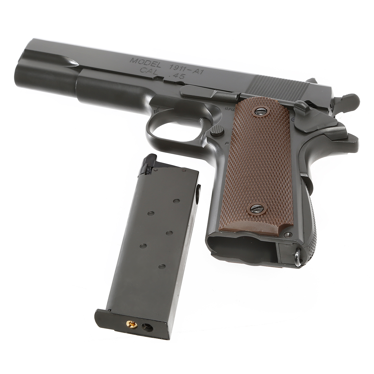 King Arms M1911-A1 Cal. 45 Vollmetall GBB 6mm BB Original-Grey 6