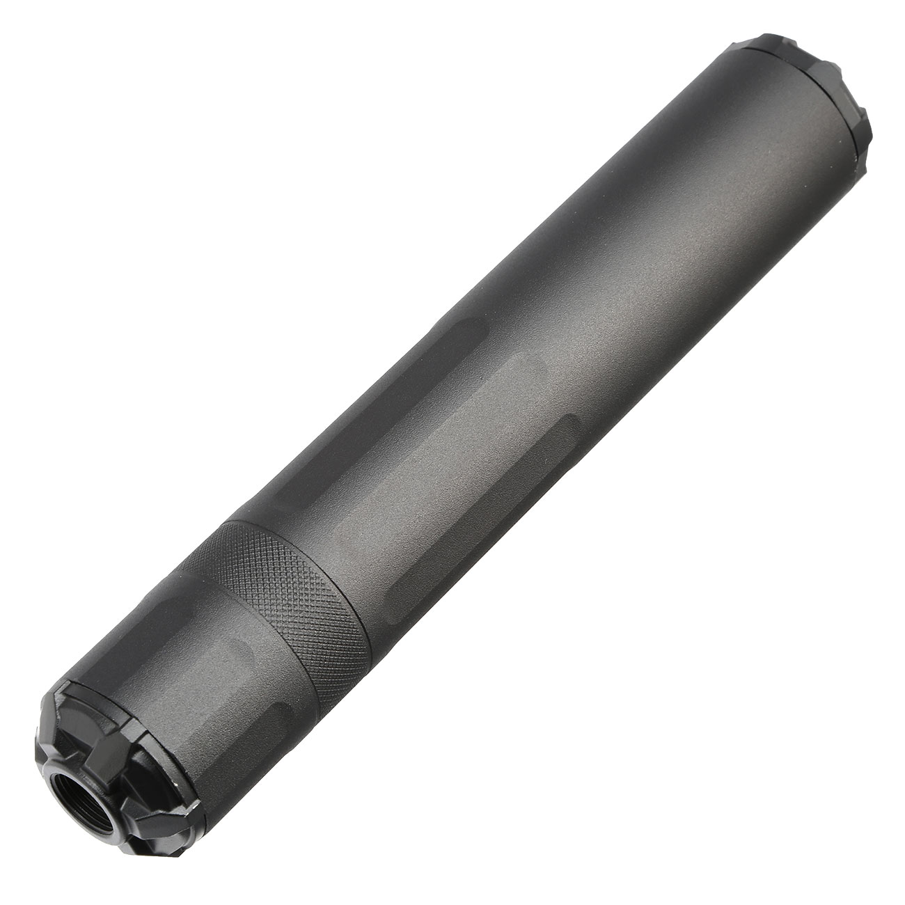 G&G GOMS MK1 Aluminium Tactical Silencer 210mm 14mm- schwarz 1