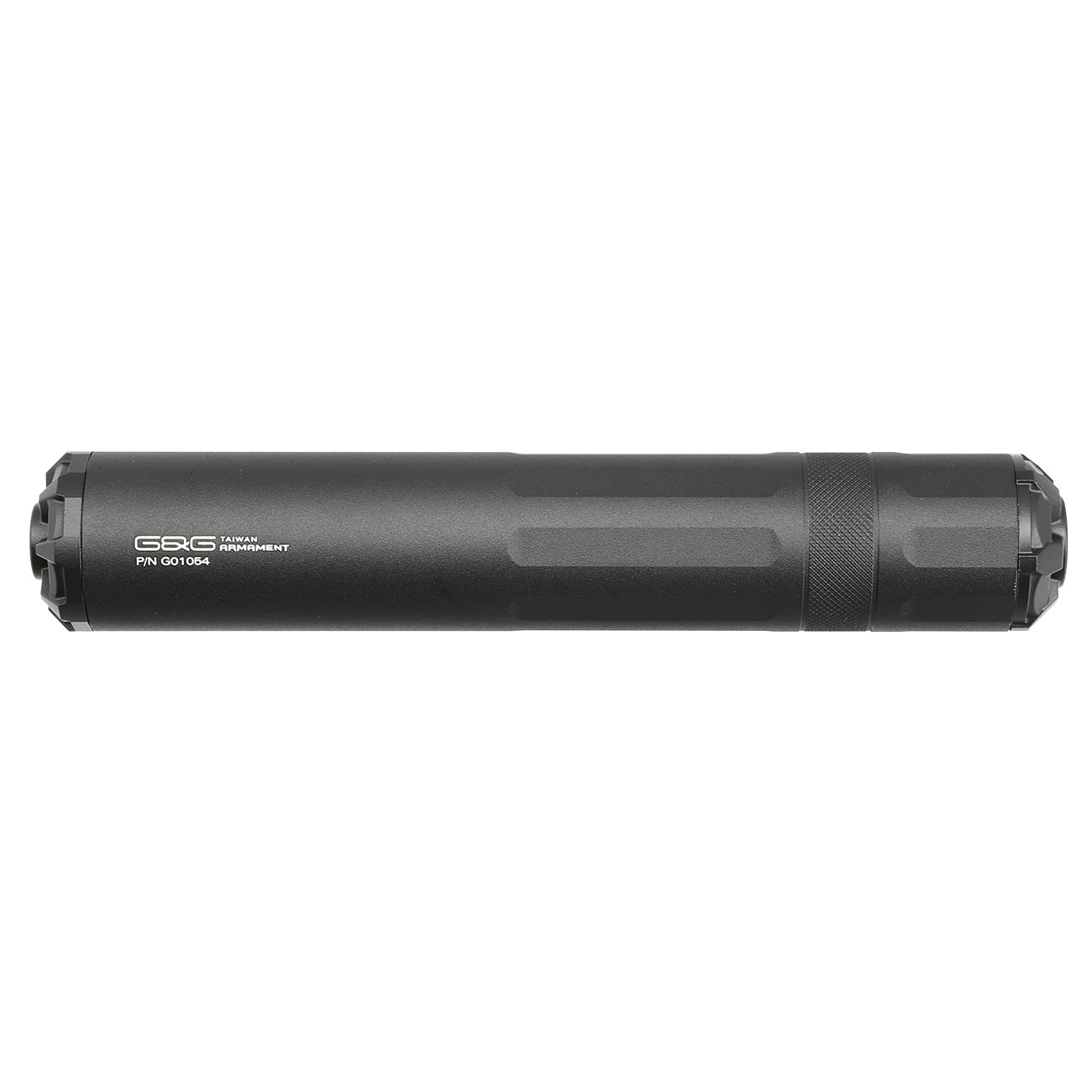 G&G GOMS MK1 Aluminium Tactical Silencer 210mm 14mm- schwarz 2