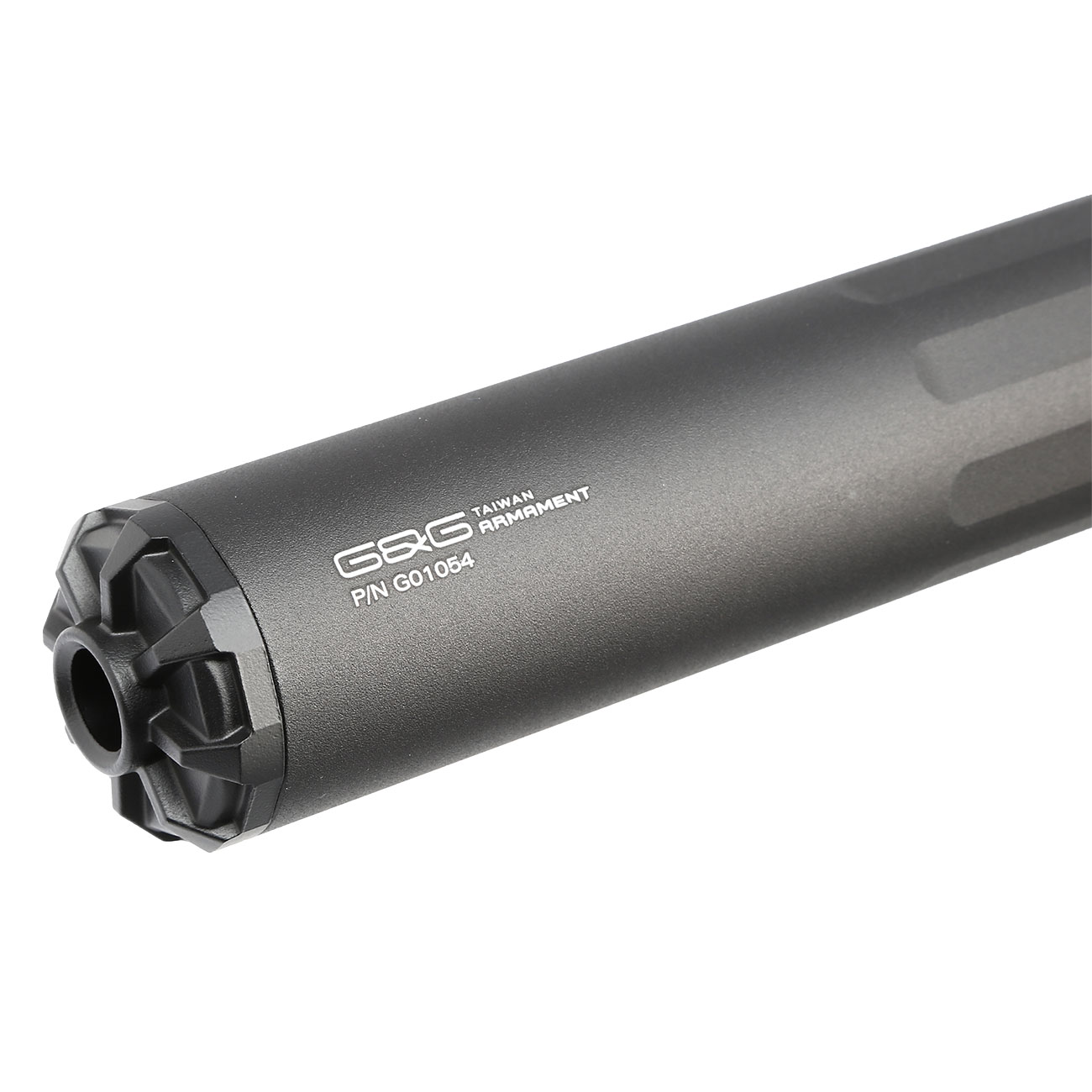 G&G GOMS MK1 Aluminium Tactical Silencer 210mm 14mm- schwarz 4