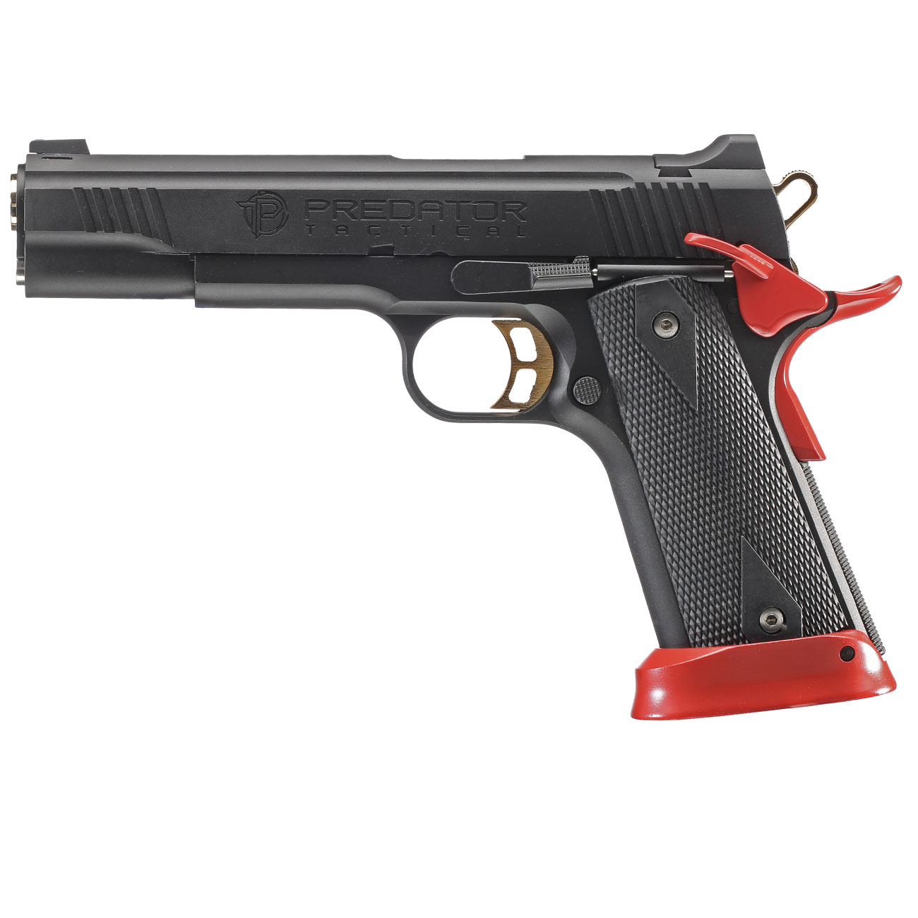 King Arms Predator Tactical Iron Shrike Vollmetall CO2BB 6mm BB Red-Edition 1