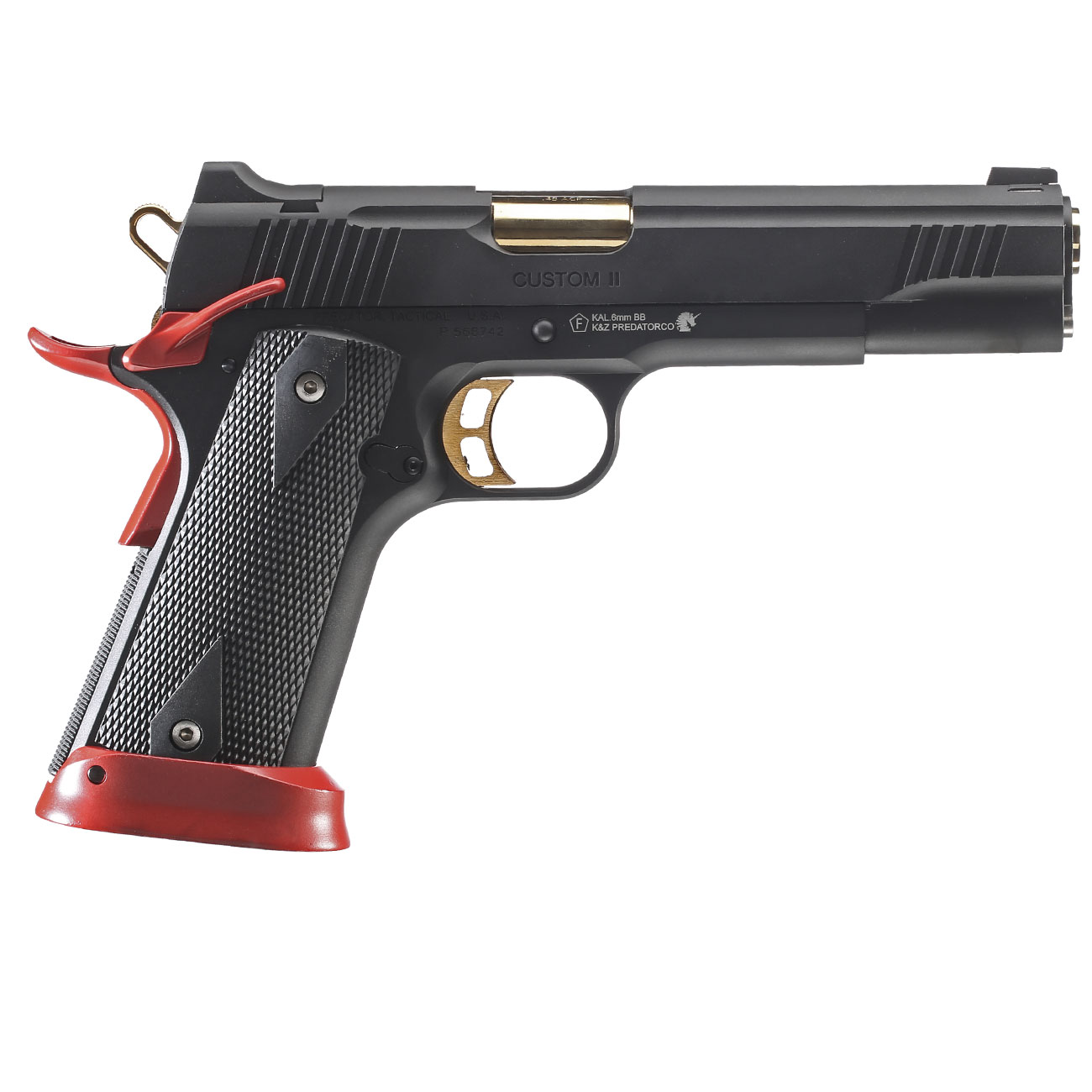 King Arms Predator Tactical Iron Shrike Vollmetall CO2BB 6mm BB Red-Edition 3