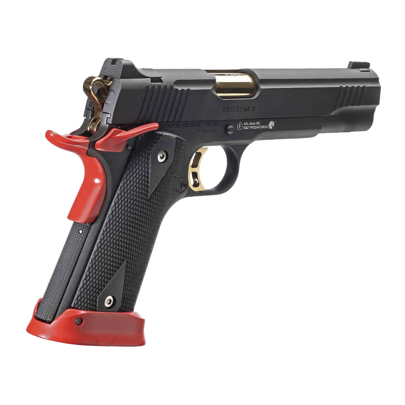 King Arms Predator Tactical Iron Shrike Vollmetall CO2BB 6mm BB Red-Edition 4
