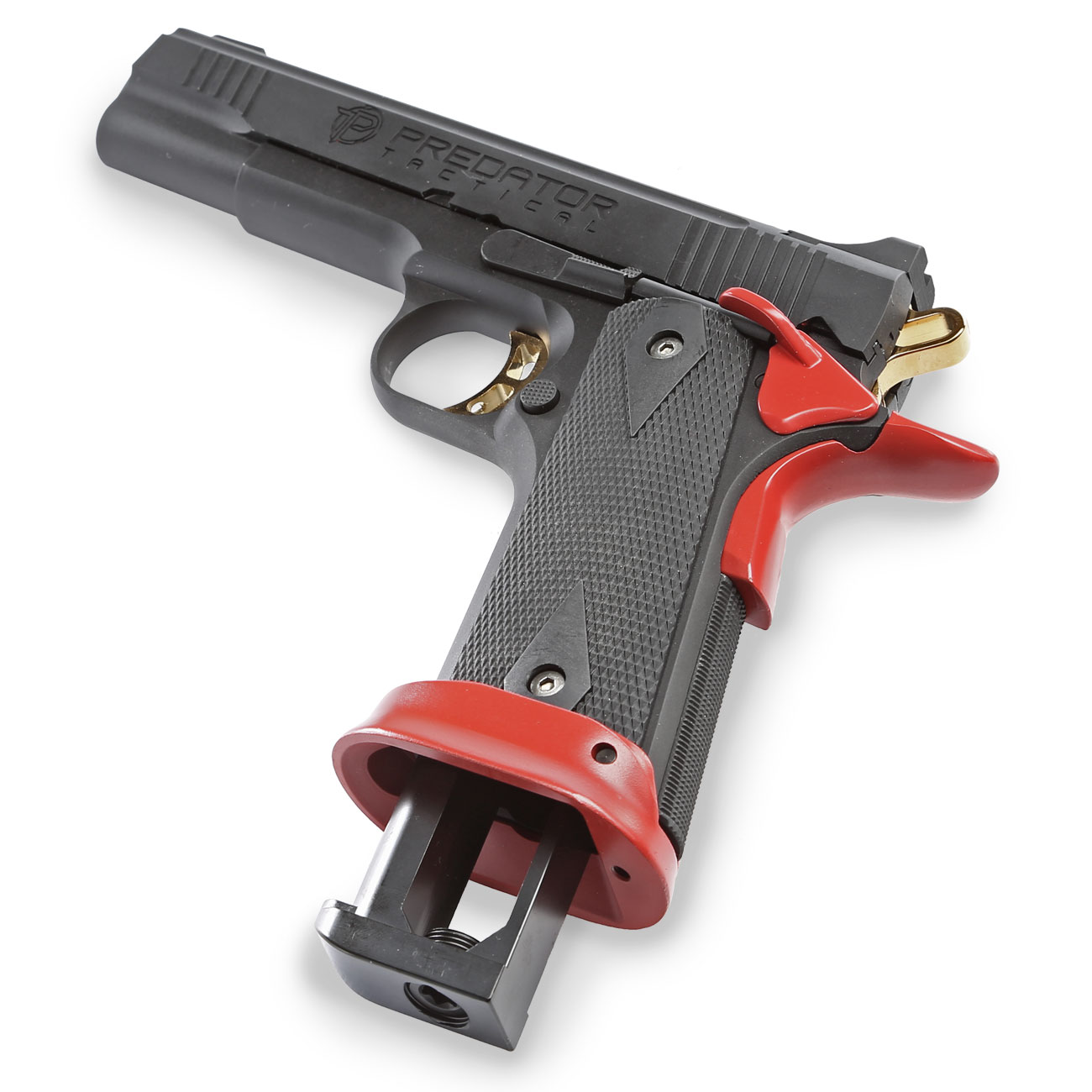 King Arms Predator Tactical Iron Shrike Vollmetall CO2BB 6mm BB Red-Edition 5