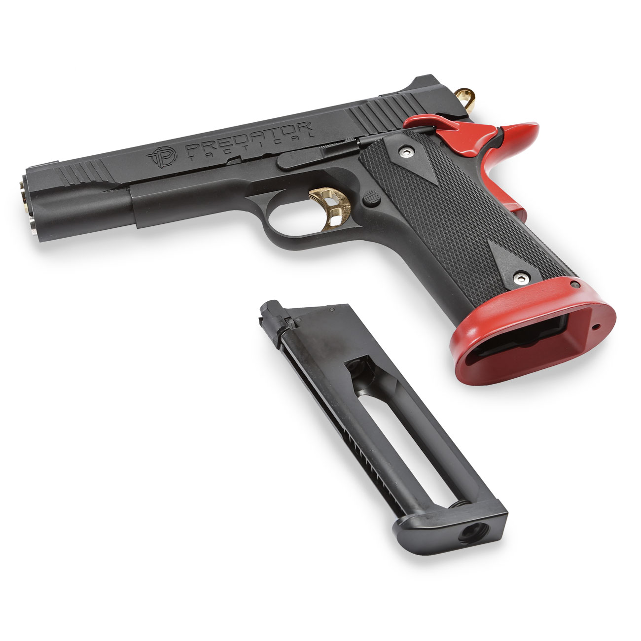 King Arms Predator Tactical Iron Shrike Vollmetall CO2BB 6mm BB Red-Edition 6