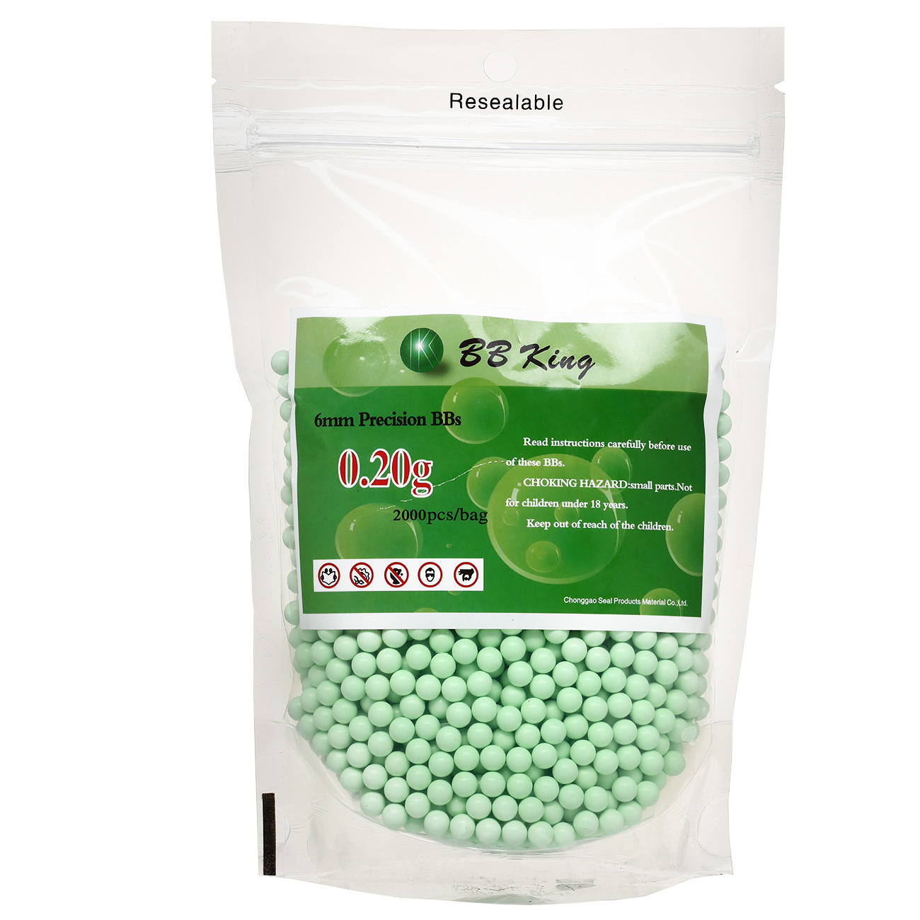 BB King Precision BBs 0.20g 2.000er Beutel Zombie Green 0