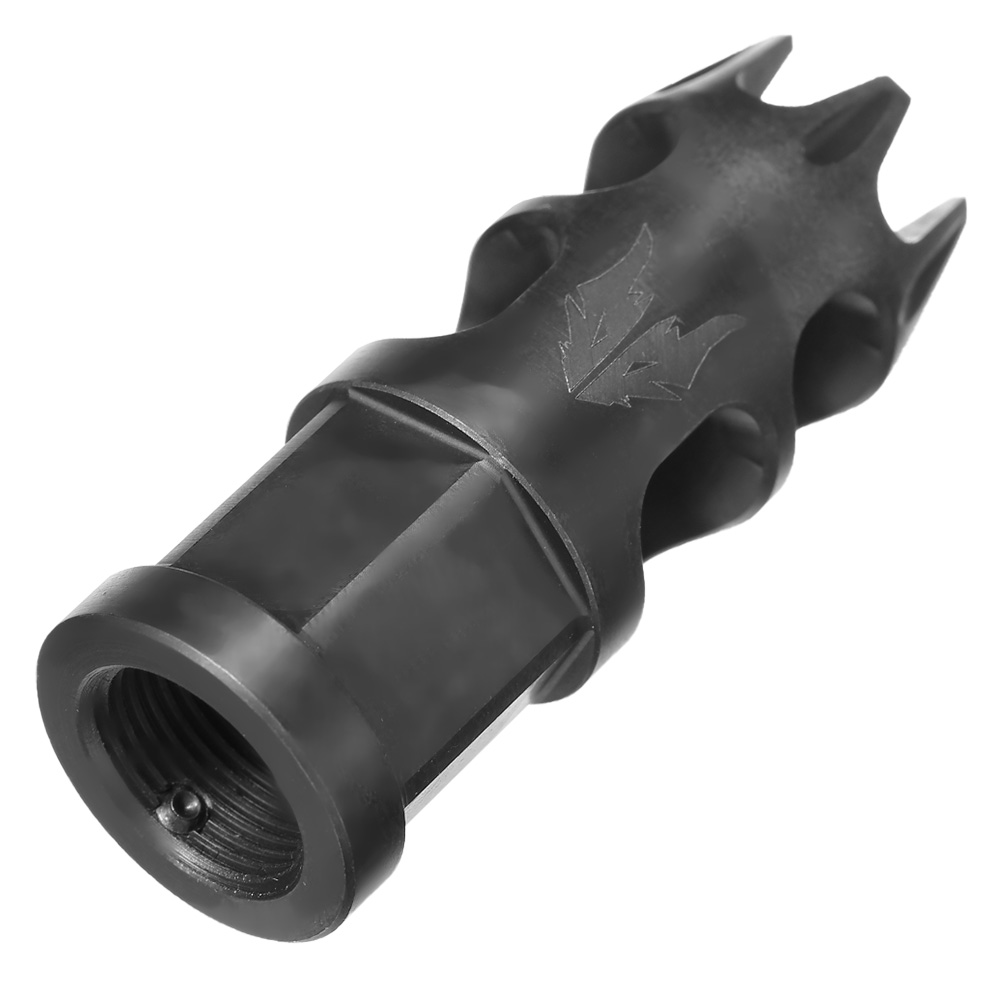 APS / EMG Falkor Defense Dracos Type-B CNC Stahl Muzzle Break schwarz 14mm- 1