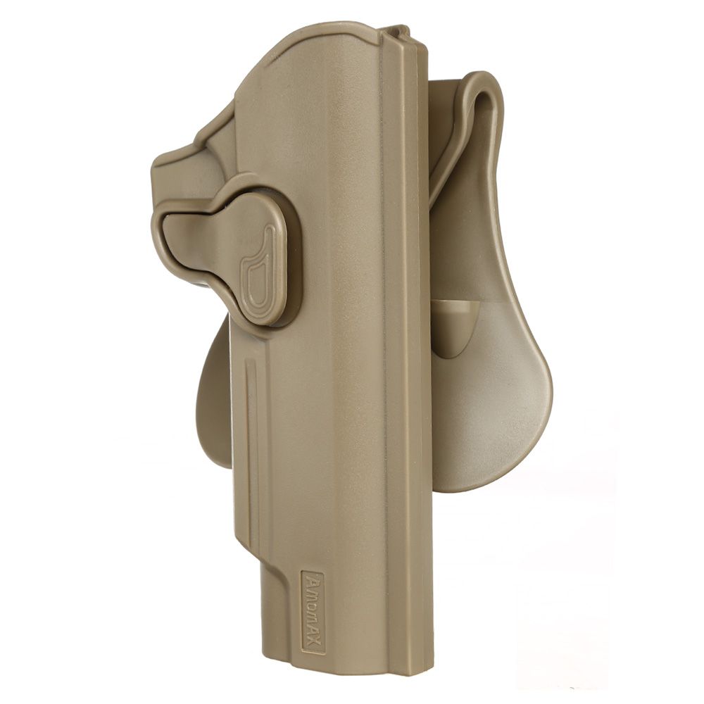 Amomax Tactical Holster Polymer Paddle für M1911 Pistolen Rechts Flat Dark Earth 5