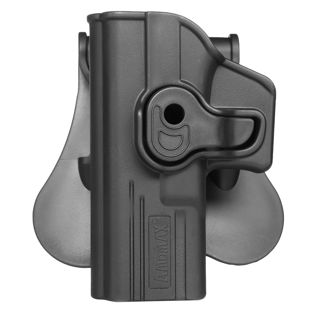 Amomax Tactical Holster Polymer Paddle für Airsoft G-Modelle Links schwarz 0