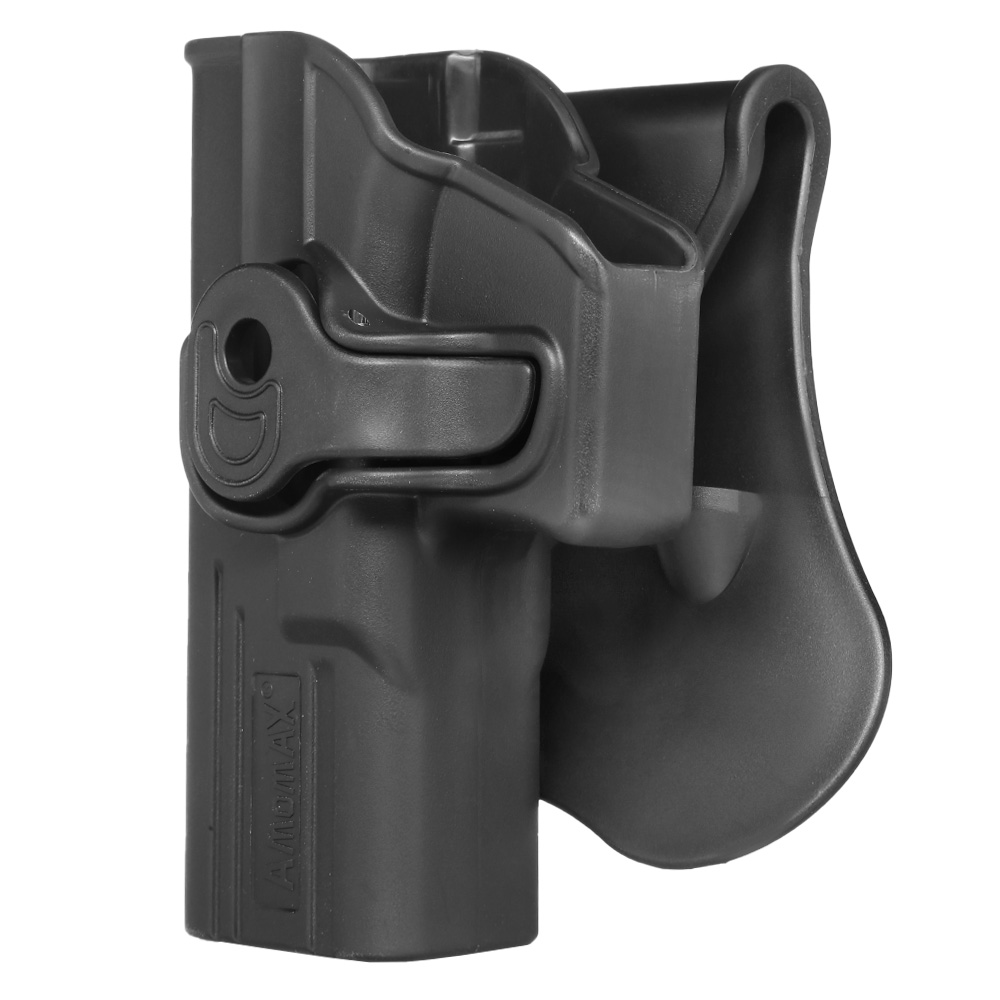 Amomax Tactical Holster Polymer Paddle für Airsoft G-Modelle Links schwarz 1