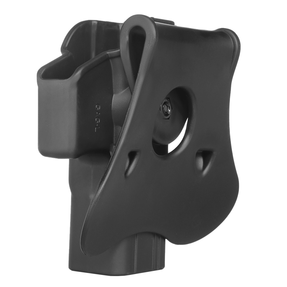 Amomax Tactical Holster Polymer Paddle für Airsoft G-Modelle Links schwarz 3