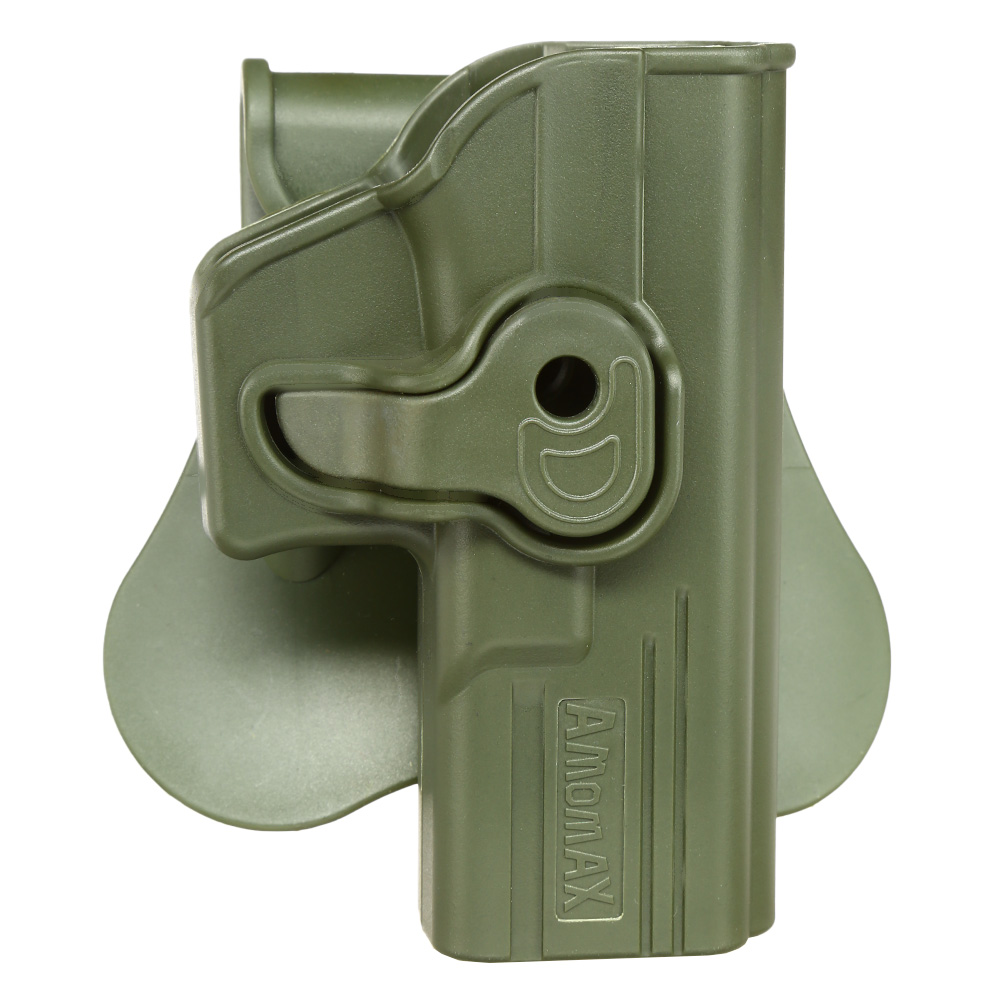 Amomax Tactical Holster Polymer Paddle für Airsoft G-Modelle Rechts oliv 0