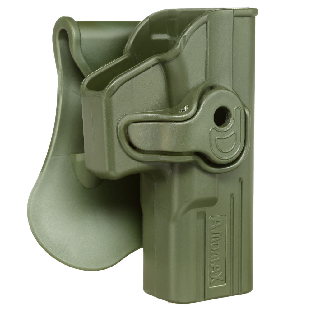 Amomax Tactical Holster Polymer Paddle für Airsoft G-Modelle Rechts oliv 1
