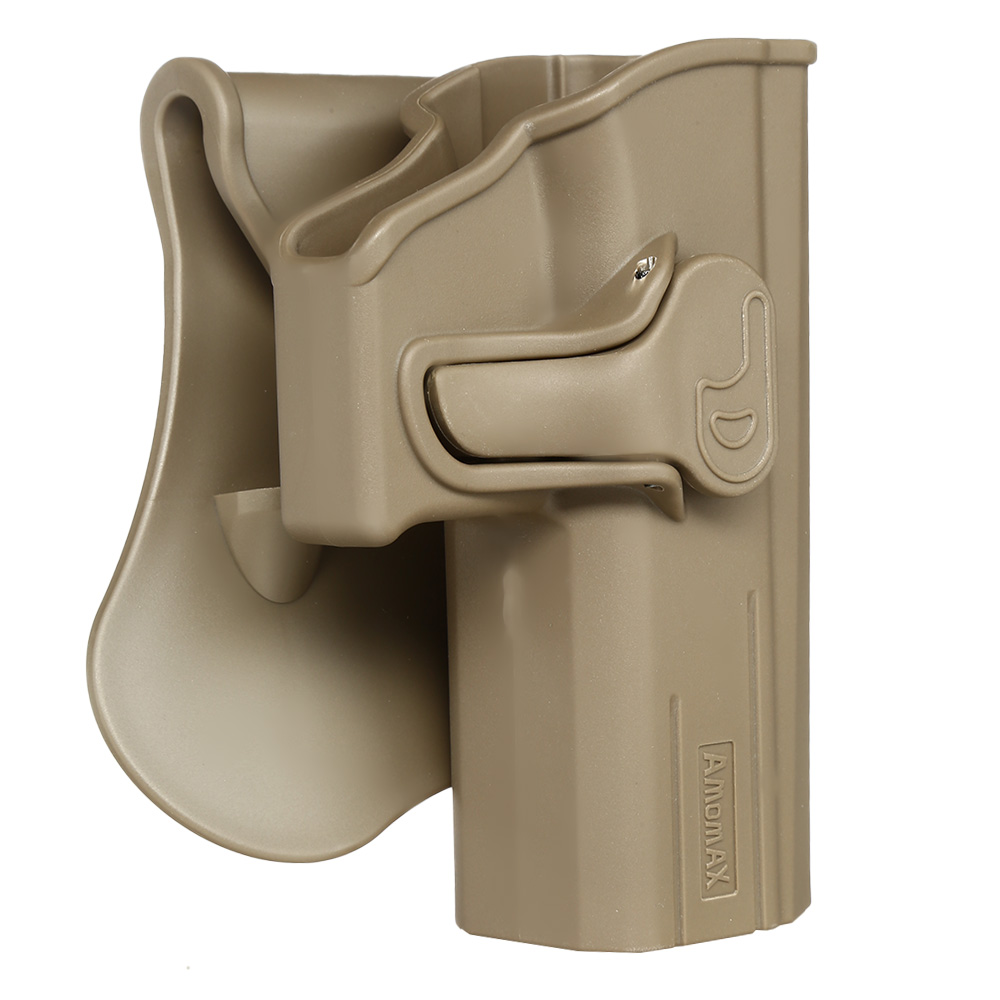 Amomax Tactical Holster Polymer Paddle für CZ P-07 / CZ P-09 Rechts Flat Dark Earth 1