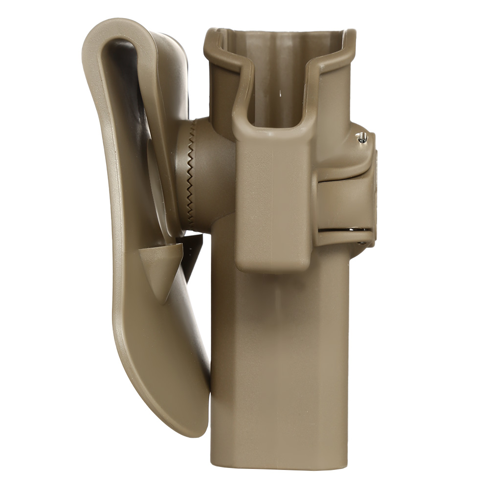 Amomax Tactical Holster Polymer Paddle für CZ P-07 / CZ P-09 Rechts Flat Dark Earth 2