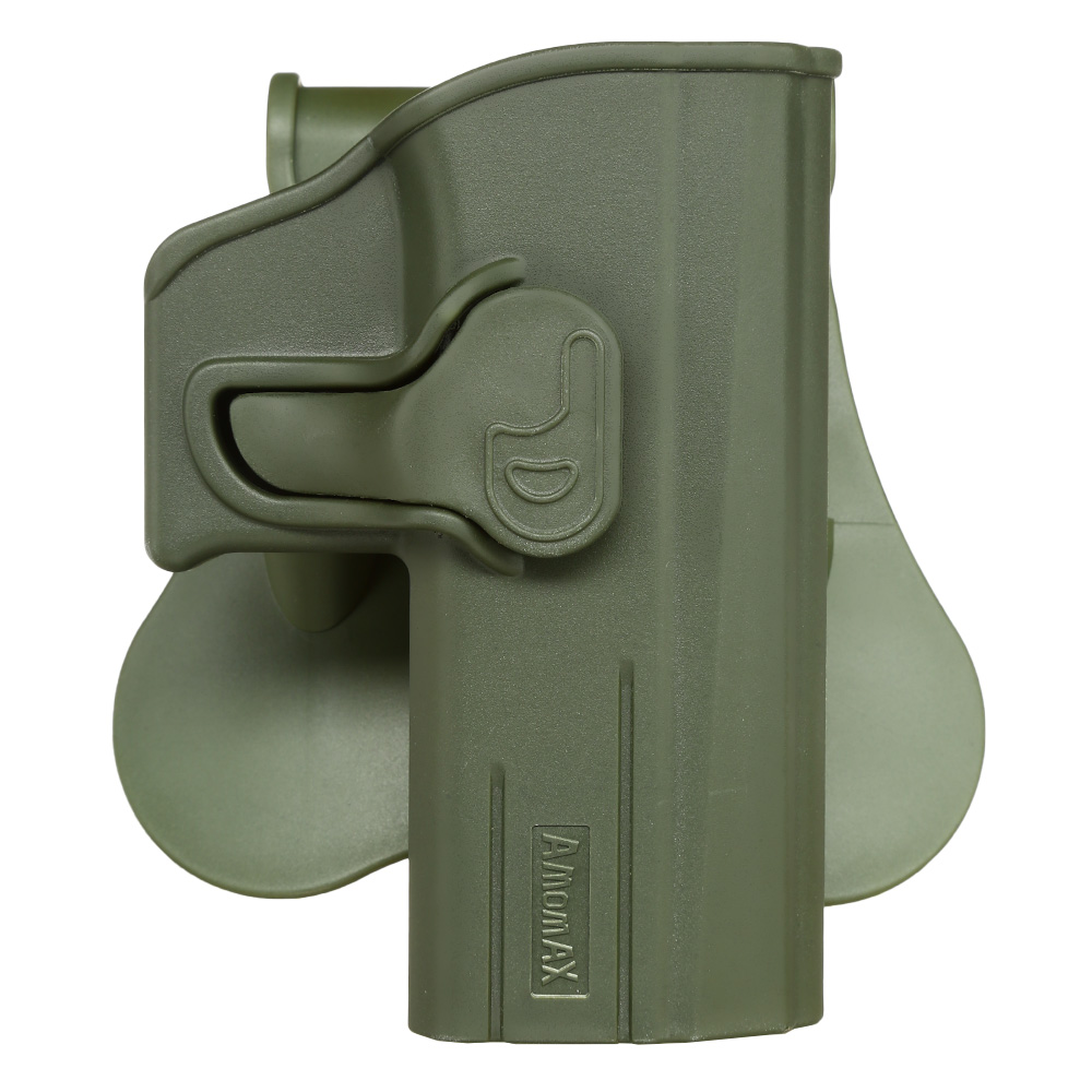 Amomax Tactical Holster Polymer Paddle für CZ P-07 / CZ P-09 Rechts oliv 0