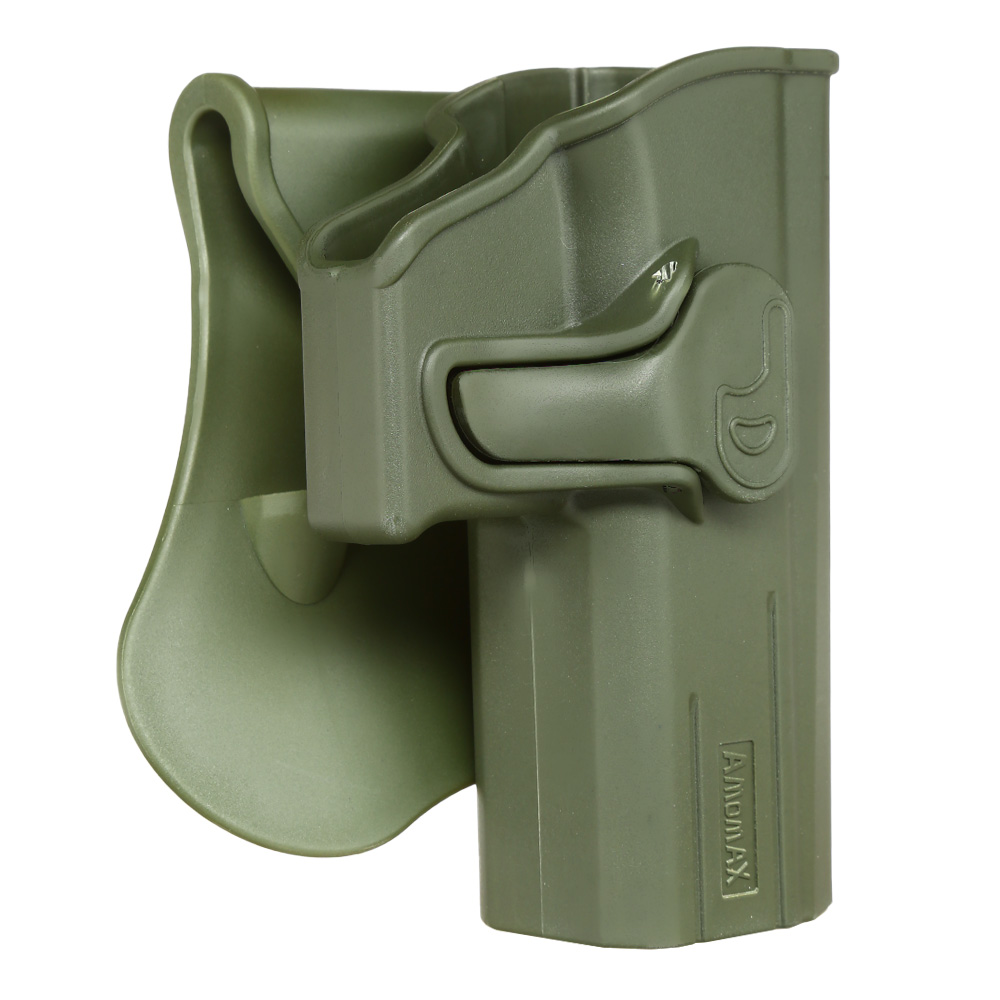 Amomax Tactical Holster Polymer Paddle für CZ P-07 / CZ P-09 Rechts oliv 1