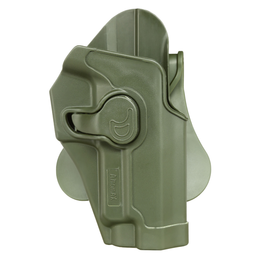 Amomax Tactical Holster Polymer Paddle für Sig Sauer P220 Serie Rechts oliv 0
