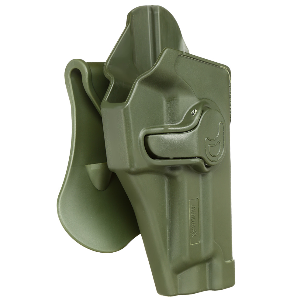 Amomax Tactical Holster Polymer Paddle für Sig Sauer P220 Serie Rechts oliv 1