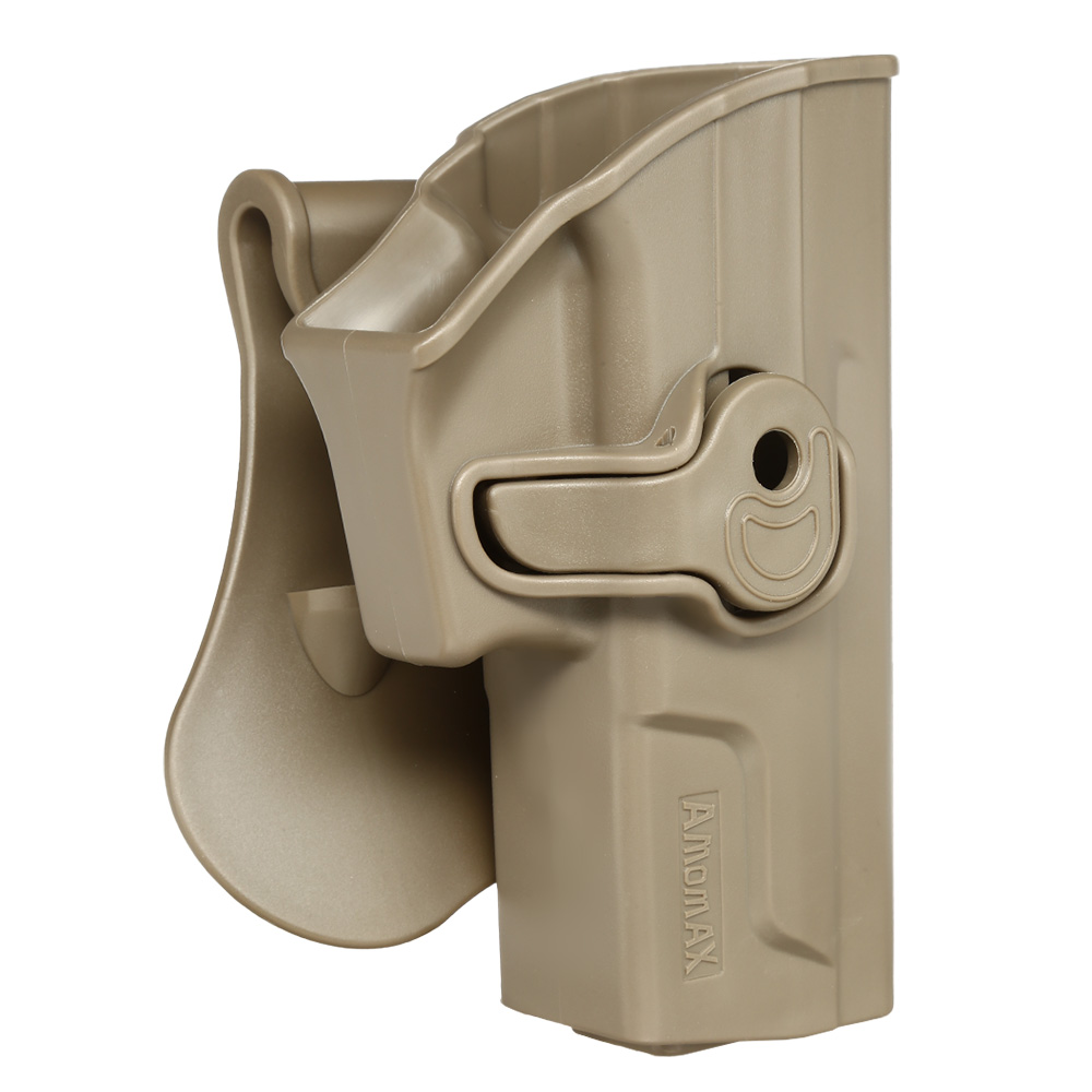 Amomax Tactical Holster Polymer Paddle für Sig Sauer SP2022 Rechts Flat Dark Earth 1