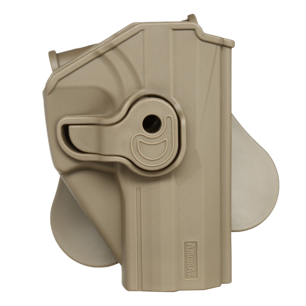 Amomax Tactical Holster Polymer Paddle für H&K USP Serie / G&G GTP-9 Rechts Flat Dark Earth 0