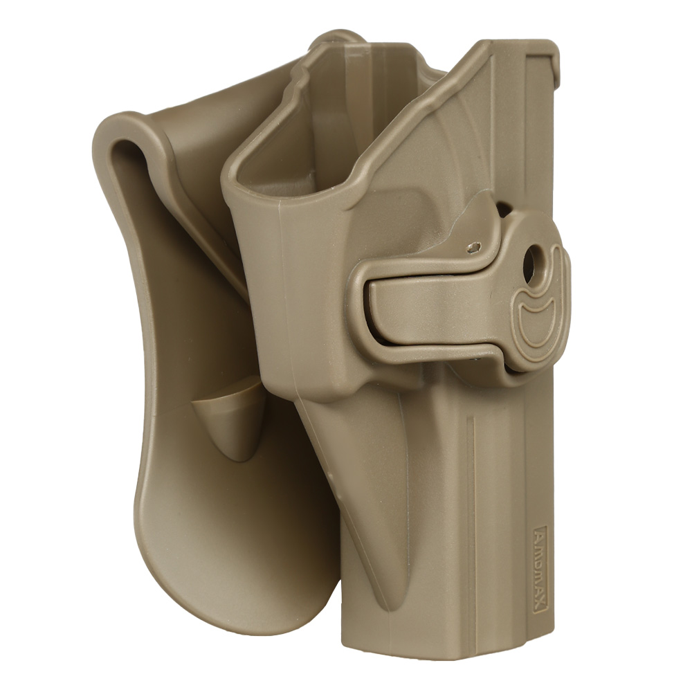 Amomax Tactical Holster Polymer Paddle für H&K USP Serie / G&G GTP-9 Rechts Flat Dark Earth 1