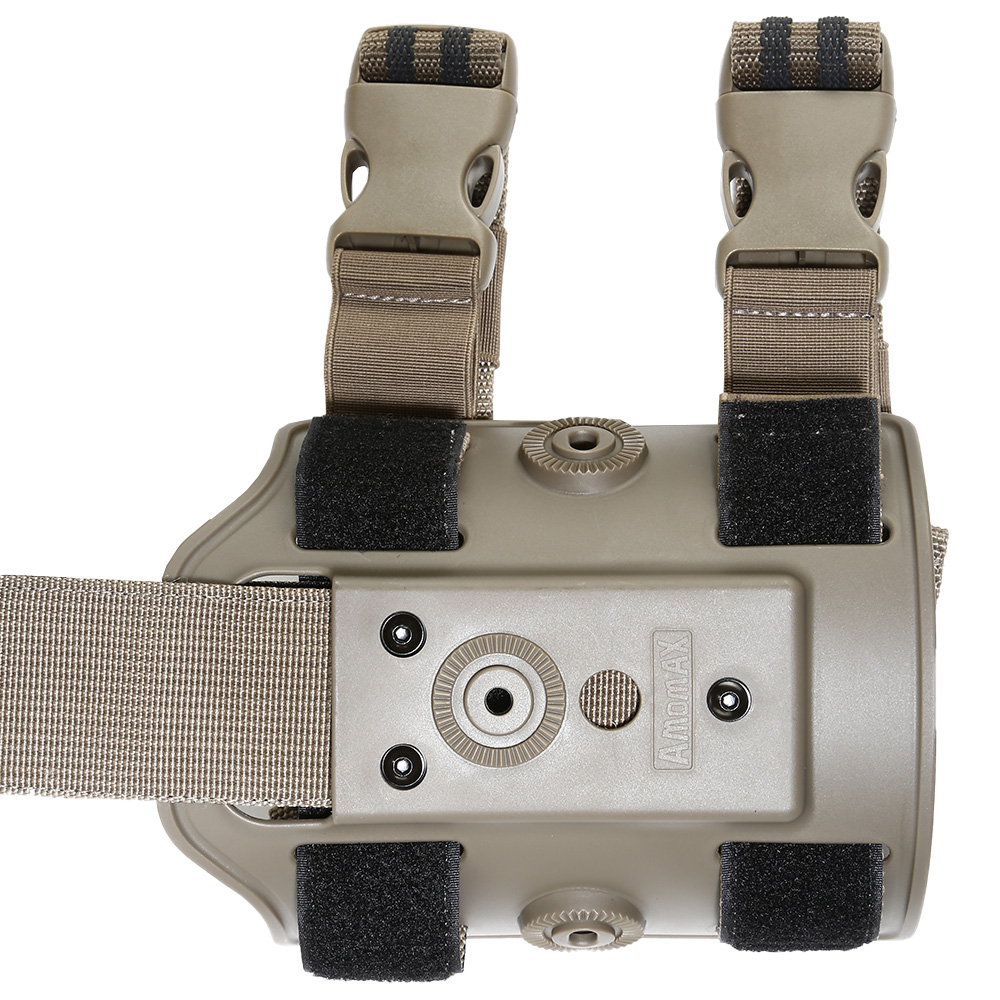 Amomax Tactical Holster Drop Leg Plate / Beinplattform Flat Dark Earth 1