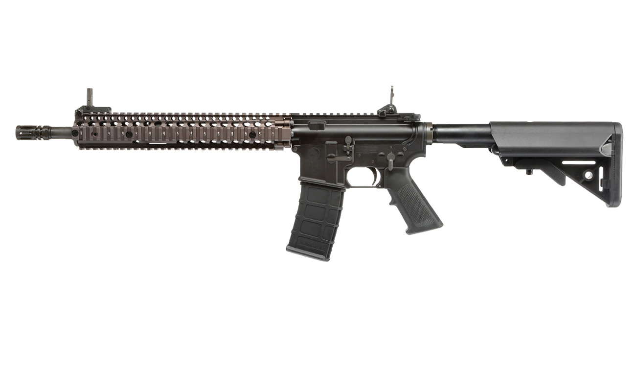 GHK Colt / Daniel Defense M4A1 RIS II Vollmetall Gas-Blow-Back 6mm BB Dualtone 1