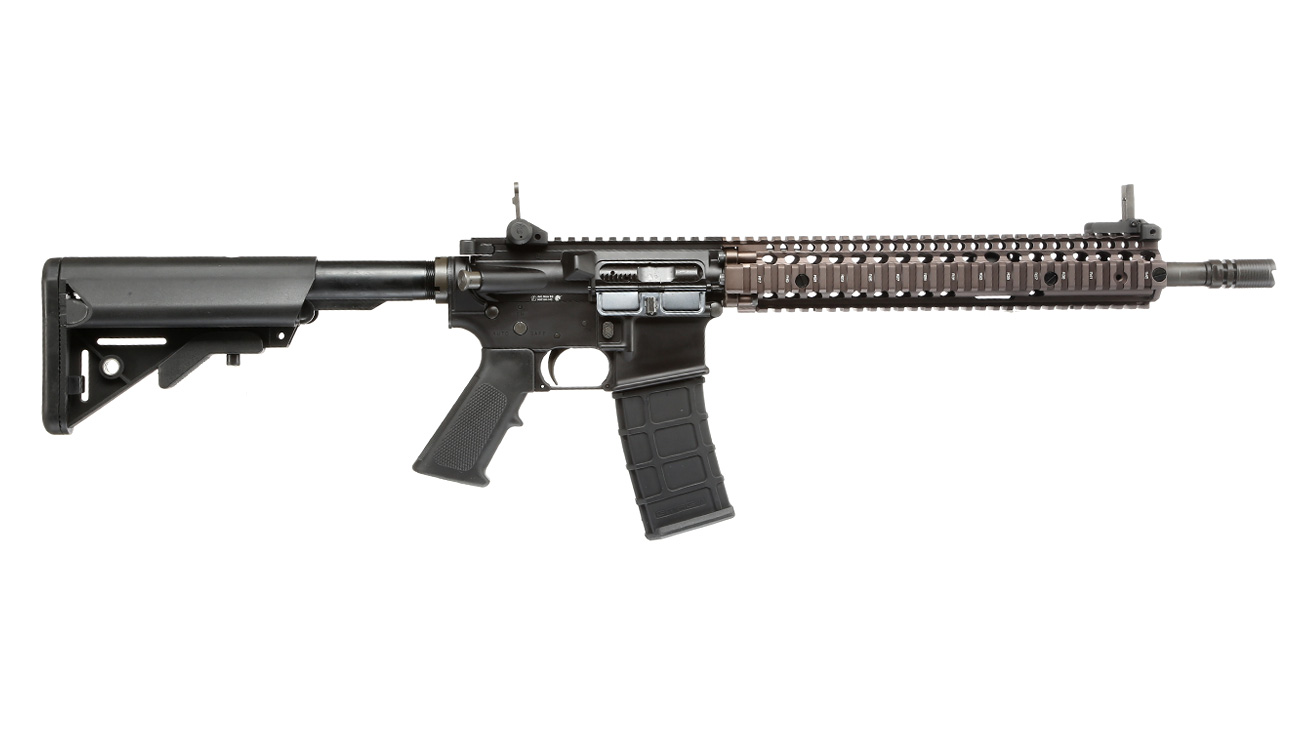 GHK Colt / Daniel Defense M4A1 RIS II Vollmetall Gas-Blow-Back 6mm BB Dualtone 2