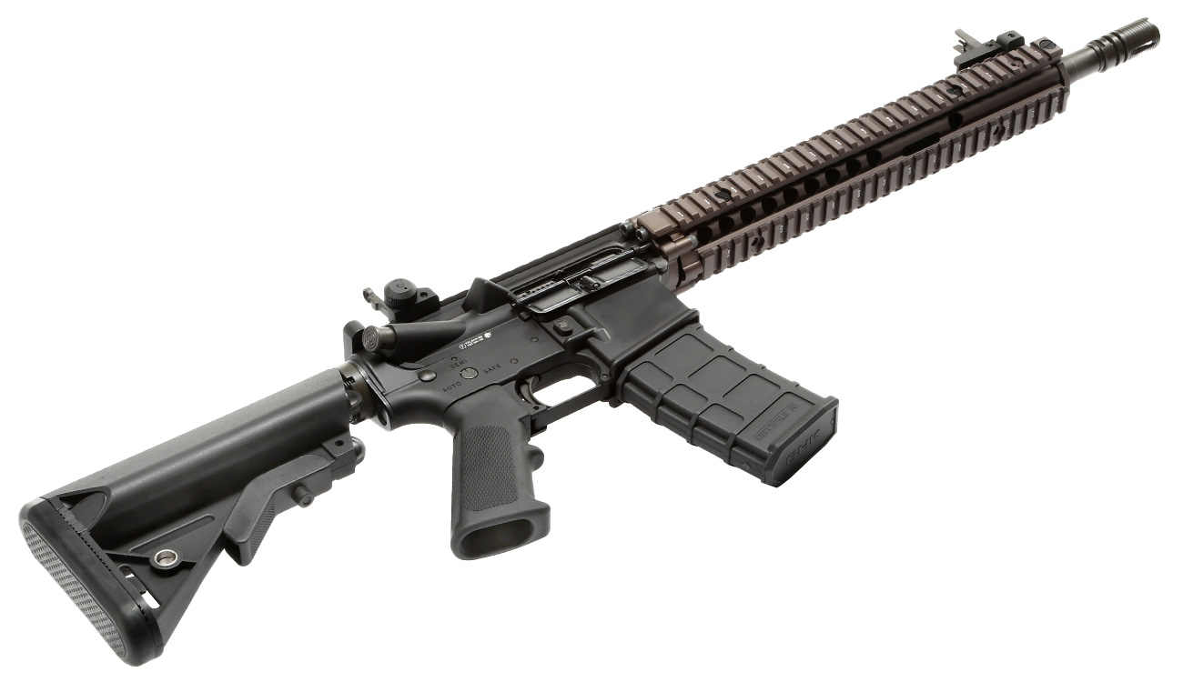 GHK Colt / Daniel Defense M4A1 RIS II Vollmetall Gas-Blow-Back 6mm BB Dualtone 4