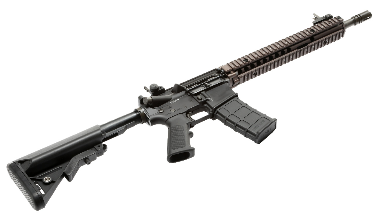 GHK Colt / Daniel Defense M4A1 RIS II Vollmetall Gas-Blow-Back 6mm BB Dualtone 5
